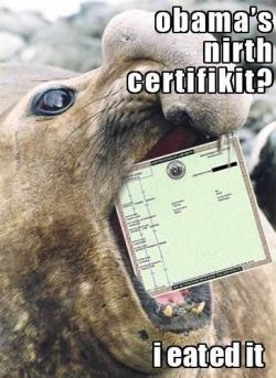 Seal birth certificate